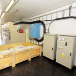 Internal view of a containerised substation produced by MV Switchgear